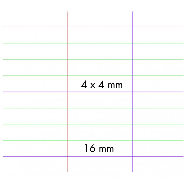 cahier 4 mm