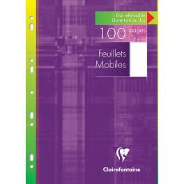 Feuillets mobiles 21x29,7 A4 100p uni