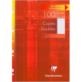 Copies doubles perforées s/étui 21x29,7 100p séyès