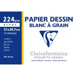 Pochette dessin à grain A4 12f 224g
