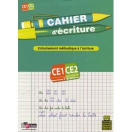 Cahier d'écriture CE1-CE2, entraînement méthodique à l'écriture