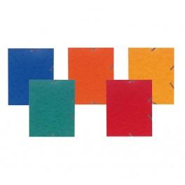 Chemise 3 rabats + élastiques 24x19cm (pour format 17x22cm) couleurs assorties