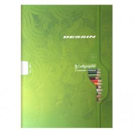 24x32cm cahier 7554C 48 pages Piqûre dessin