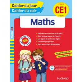 Cahier du jour cahier du soir Maths CE1