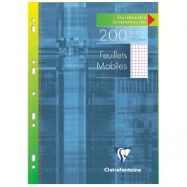 200 feuilles mobiles A4 5x5 + marge