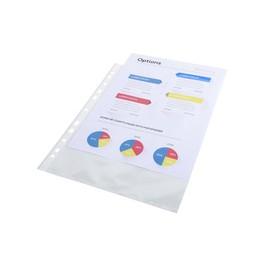 Sachet de 100 pochettes 5200E perforées polypropylène lisse 6/100e - A4