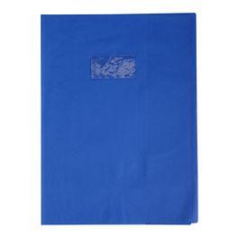 Bleu 24*32 Protège-cahier Grain Cuir 20/100ème