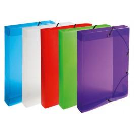 Boîte à élastiques polypropylène transparent dos 40mm