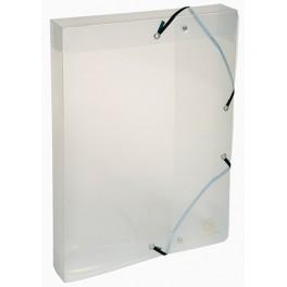 Boîte à élastiques polypropylène transparent dos 25mm cristal